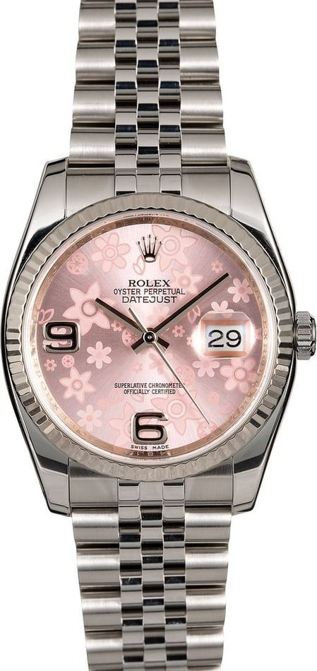 Rolex Datejust 116234 Pink Floral Dial