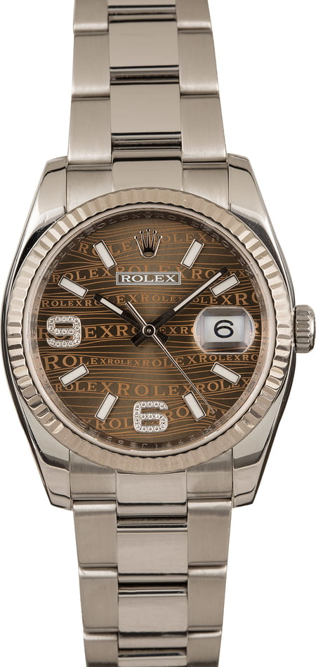 Rolex Datejust 116234 Bronze Jubilee Diamond Dial