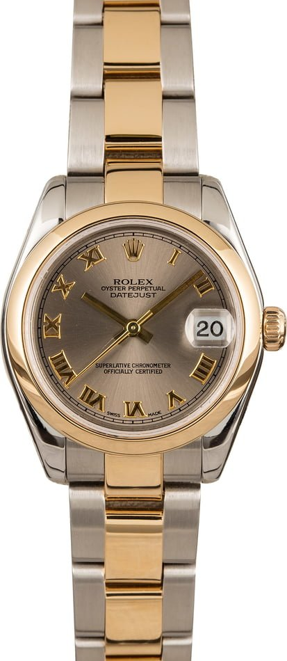 Used Rolex Datejust 178243 Slate Roman Dial