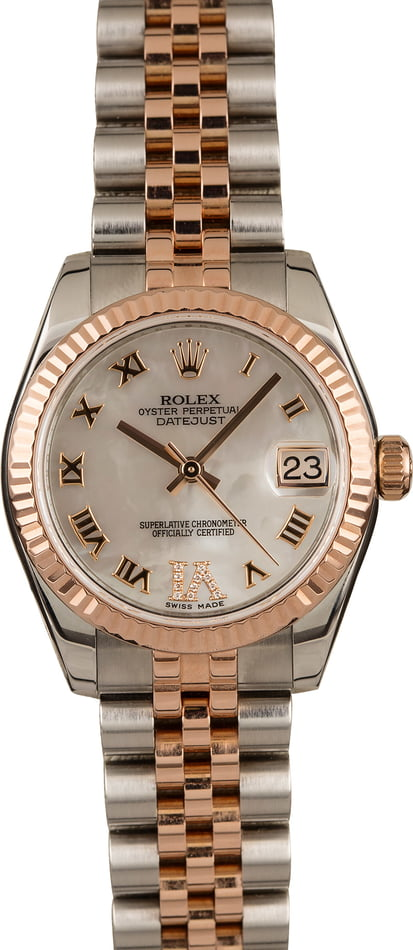 Pre-Owned Rolex Datejust 178271 Mother of Pearl