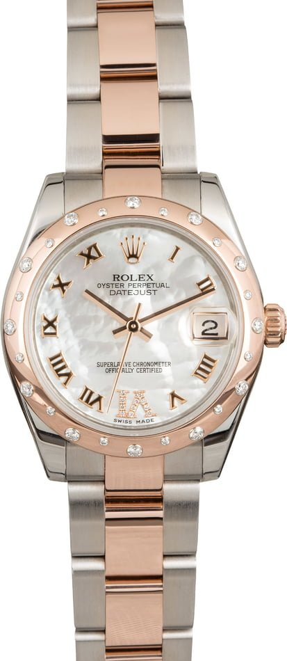 Rolex Datejust 178341 Roman Mother of Pearl Dial