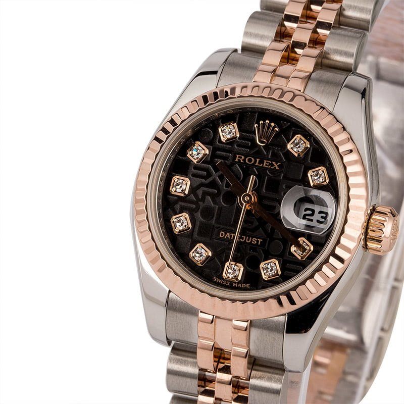 3b00a1a295464 Pre Owned Rolex Datejust 179171 Jubilee Diamond Dial