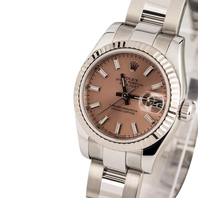 d149281bb46 Rolex Datejust 179174 Pink Luminous Index Dial