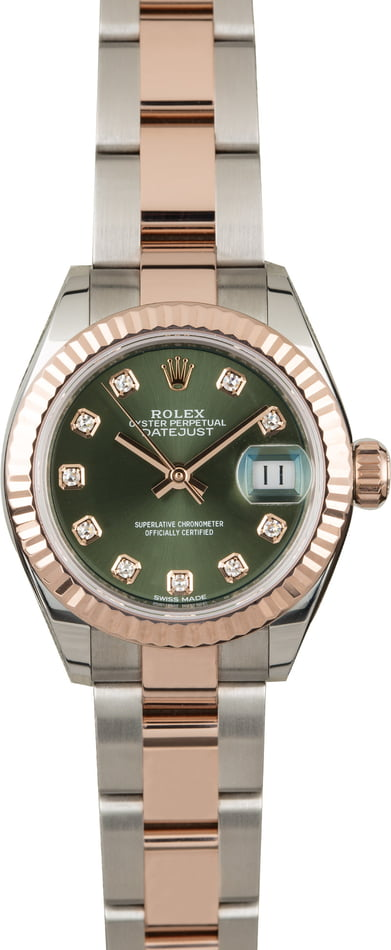 Rolex Lady Datejust 279171 Olive Diamond Dial