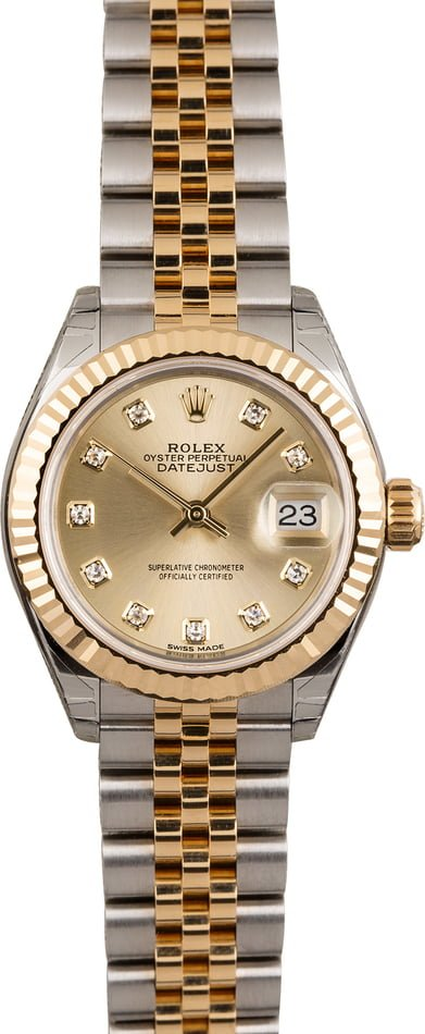 Unworn Rolex Datejust 279173 Diamond Dial