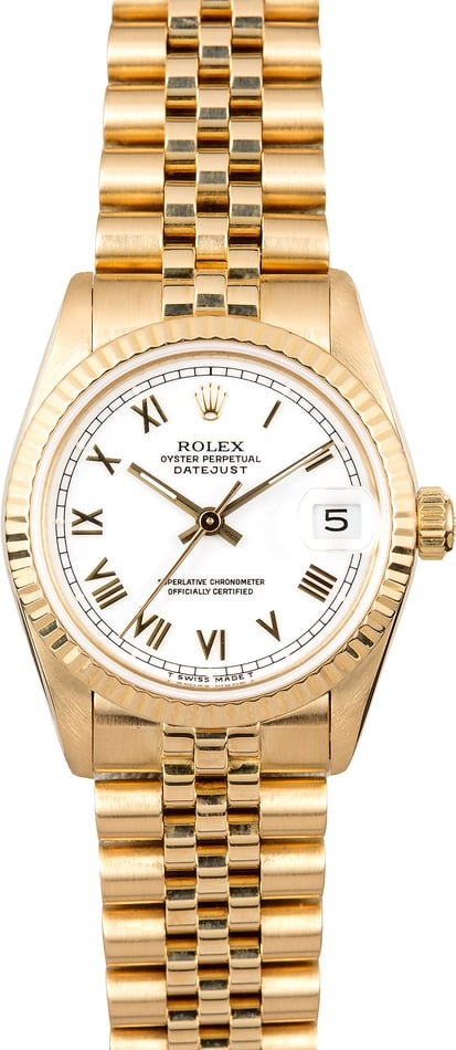Rolex datejust 31 68278 gold for Rolex date just 31