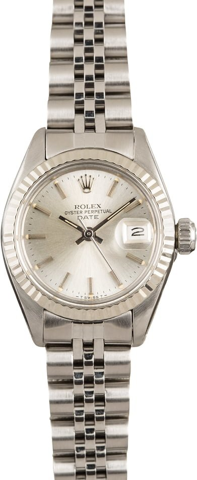 Ladies Rolex Datejust 6917 Silver Dial