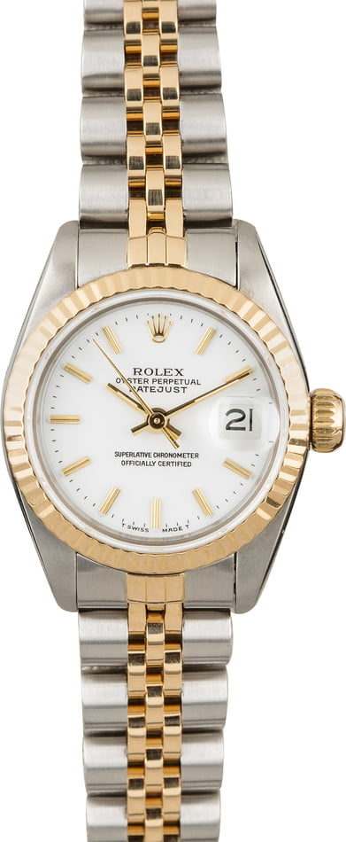 PreOwned Rolex Datejust 69173 White Index Dial
