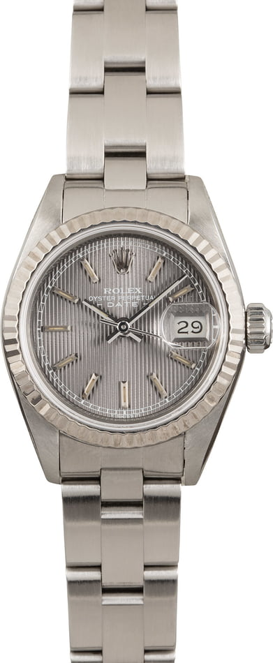 Pre Owned Lady Rolex Datejust 69174 Slate Tapestry