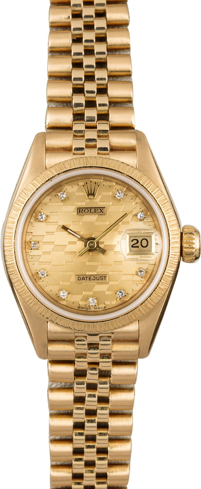 PreOwned Rolex Lady Datejust 69178 Chevy Diamond Dial