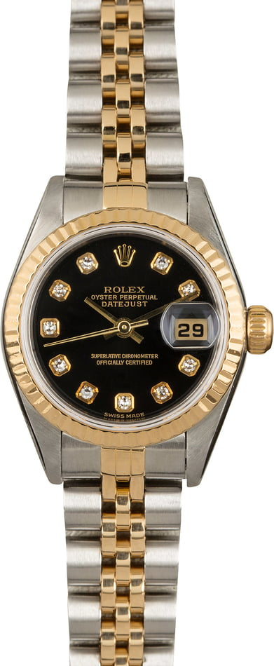 Rolex Datejust 79173 Black Diamond Dial