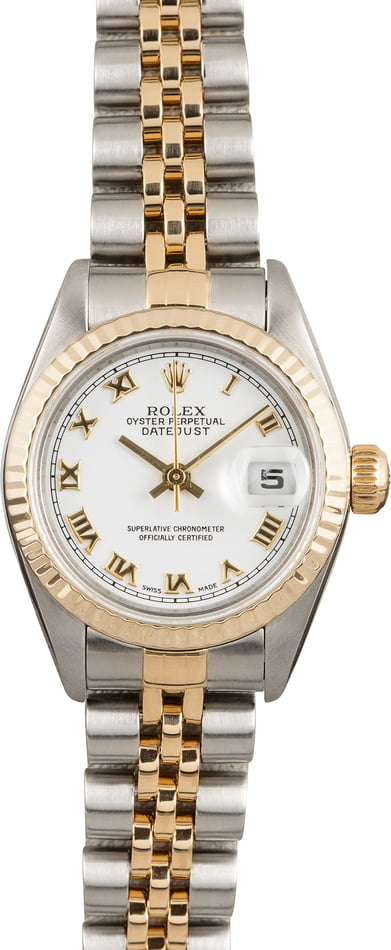 Pre Owned Rolex Datejust 79173 White Roman Dial