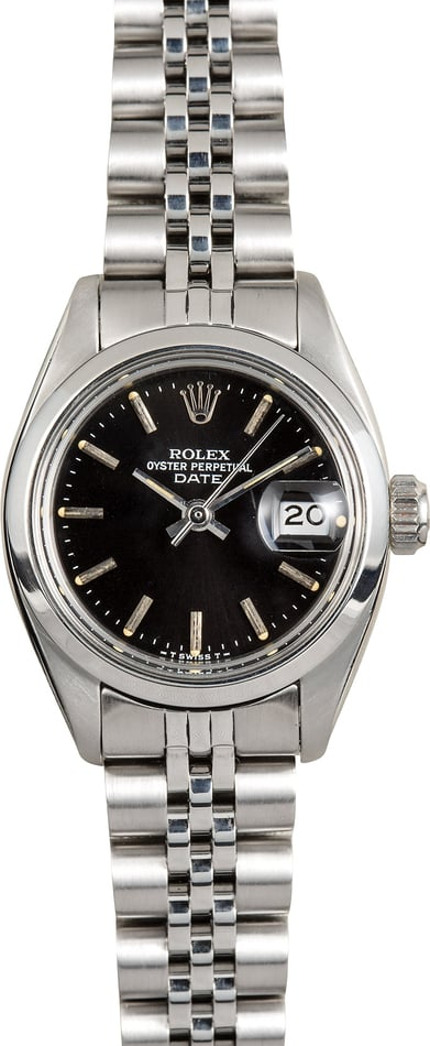 Rolex Ladies Date 6916 Black