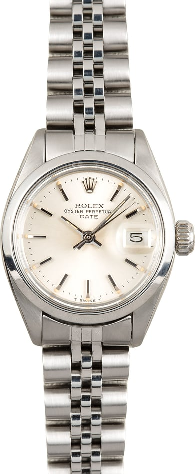 Rolex Ladies Date 6916 Stainless Jubilee