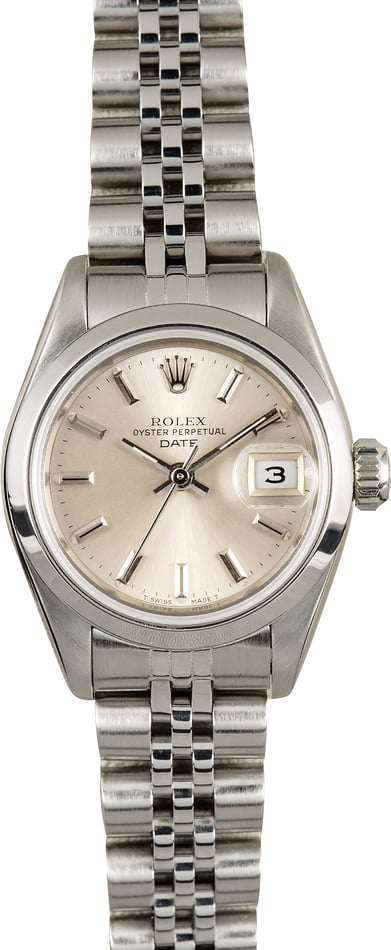 Rolex Ladies Date 69160 Stainless Steel