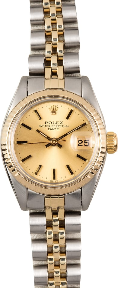 Rolex Ladies Date 6917 Champagne Jubilee