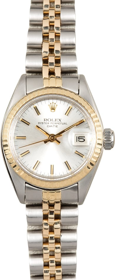 Rolex Ladies Date 6917 Silver Index