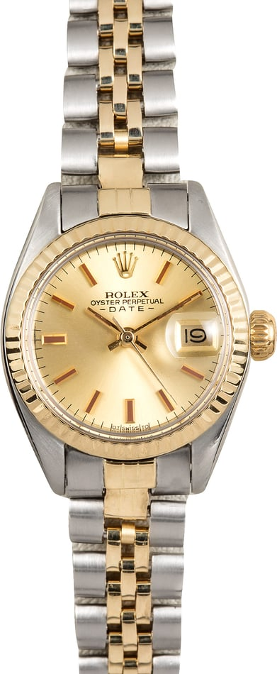 Rolex Ladies Date 6917 Two-Tone