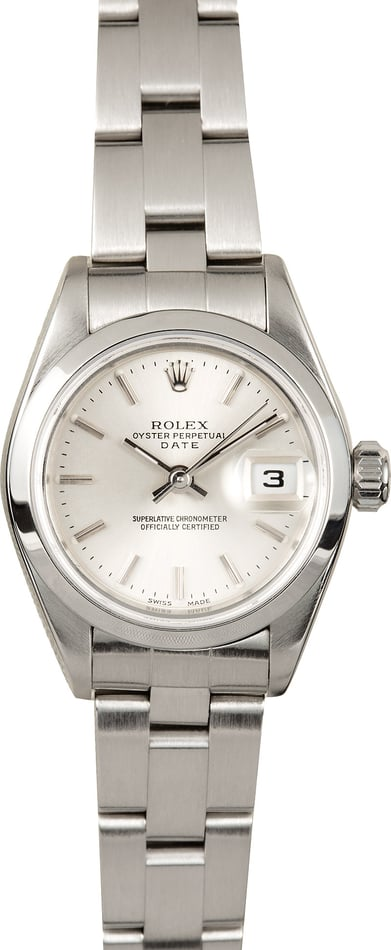 Rolex Ladies Date 79160 Stainless Steel