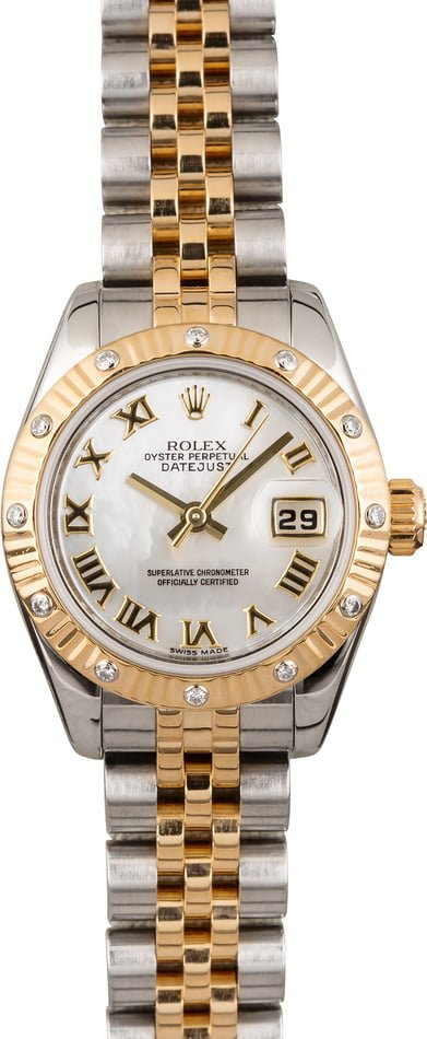 Used Rolex Ladies Datejust 179313 Roman Mother of Pearl Dial