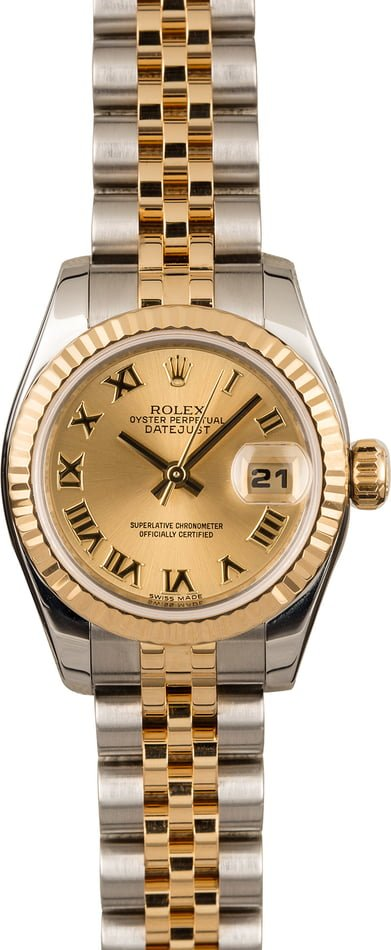 Pre Owned Rolex Lady-Datejust 179173 Roman Dial