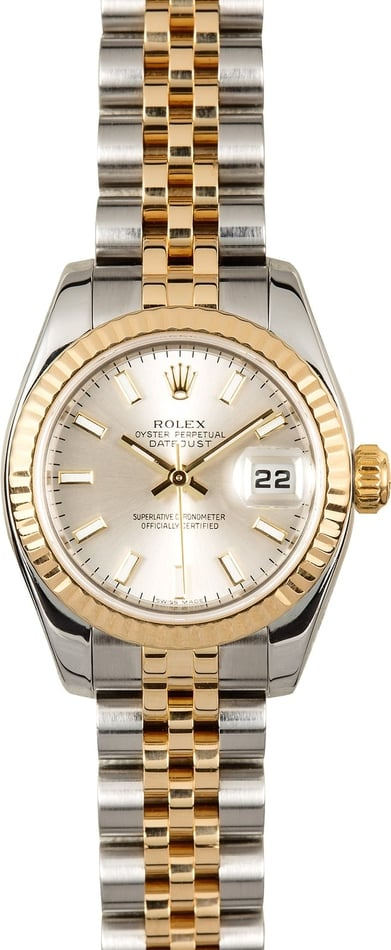 Rolex Ladies Datejust 179173 Silver