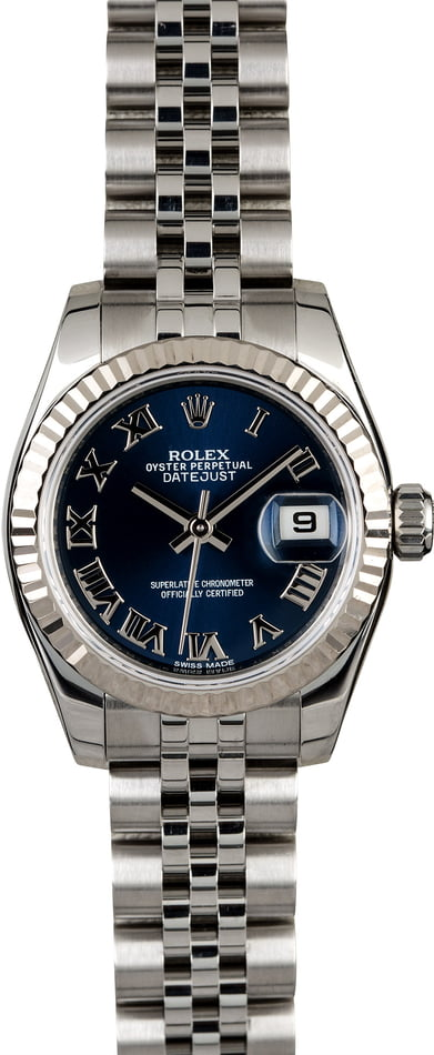 Rolex Ladies Datejust 179174 Blue Dial