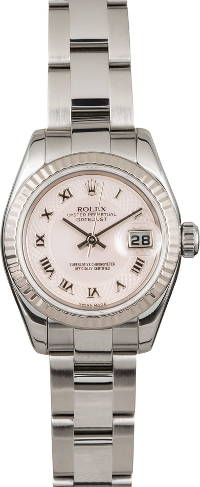 Pre Owned Rolex Ladies Datejust 179174 Decorated Roman Dial