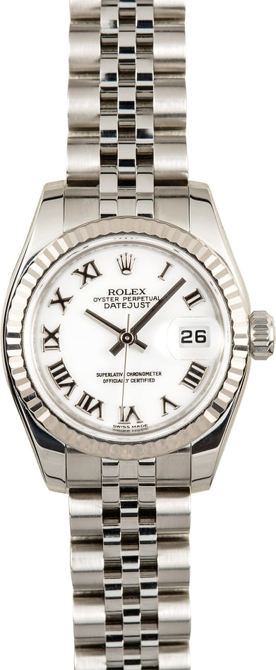Rolex Ladies Datejust 179174 White Roman