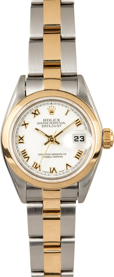Rolex Ladies Datejust 69163 White Roman