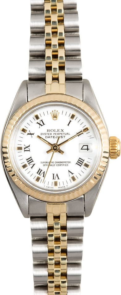 Rolex Ladies Datejust 6917 White Roman