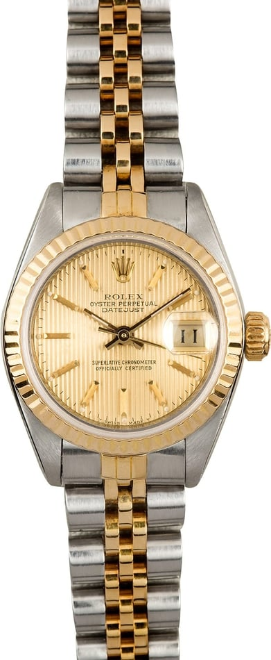 Rolex Ladies Datejust 69173 Champagne Tapestry