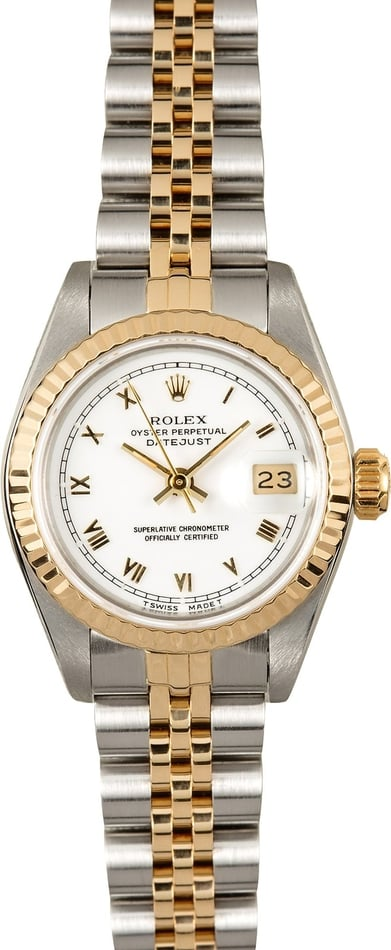 Rolex Ladies Datejust 69173 White Certified Pre-Owned