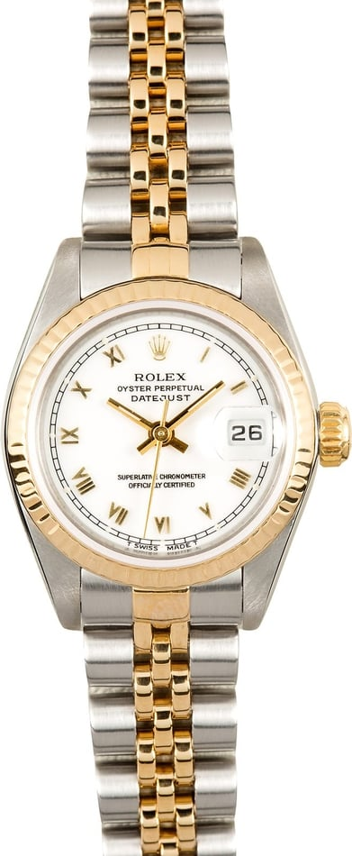 Rolex Ladies Datejust 69173 White Dial