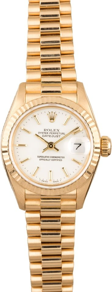 Rolex Datejust 69178 White Index Dial