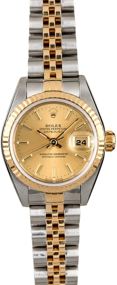 Rolex Ladies Two Tone Datejust 79173 Champagne