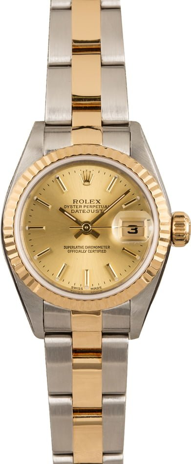 Pre Owned Rolex Ladies Datejust 79173 Champagne Dial T