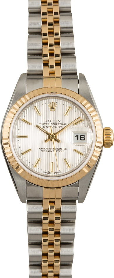 Used Silver Tapestry Dial Rolex Datejust 79173