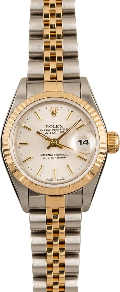 Pre Owned Rolex Ladies Datejust 79173 Silver Dial