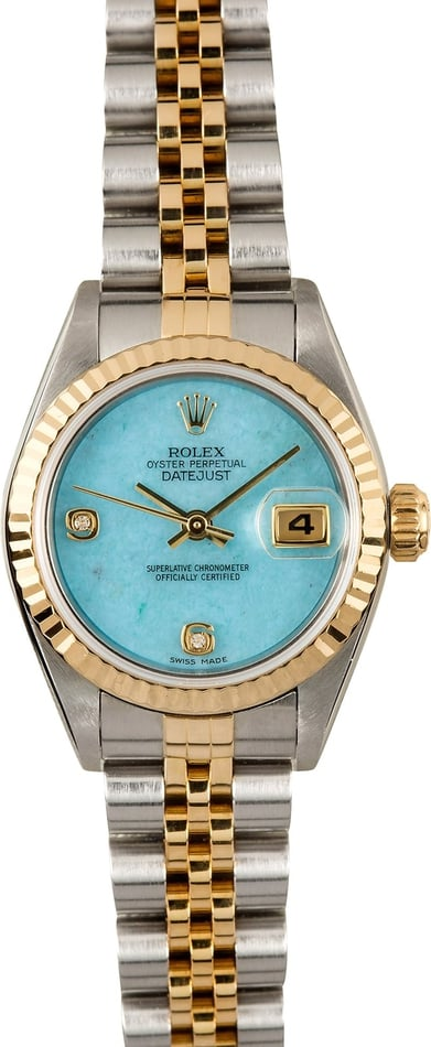Rolex Ladies Datejust 79173 Jadeite