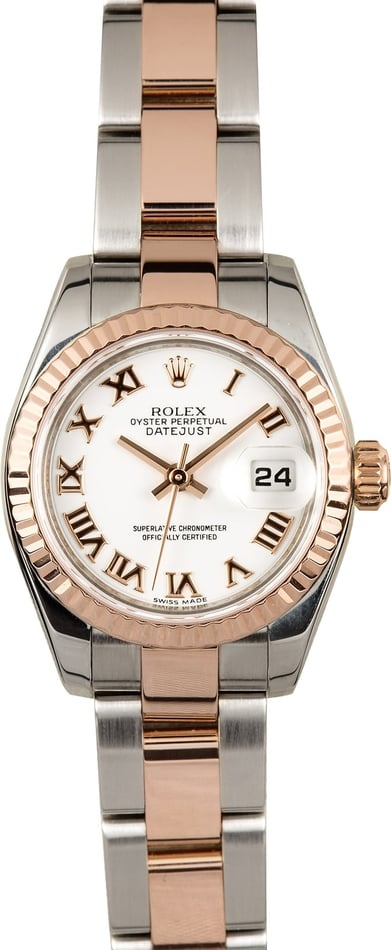Rolex Ladies Everose Datejust 179171
