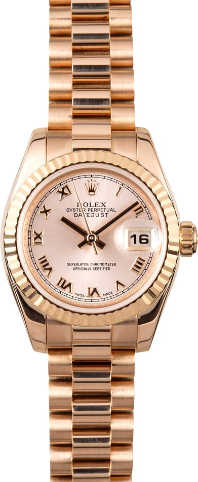 Rolex Ladies Everose President 179175 Pink