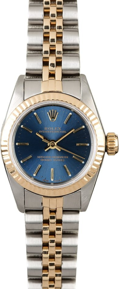 Rolex Ladies Oyster Perpetual 67193 Blue Dial