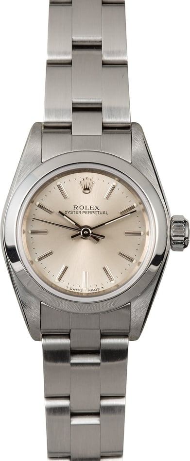Rolex Ladies Oyster Perpetual 67180 Steel