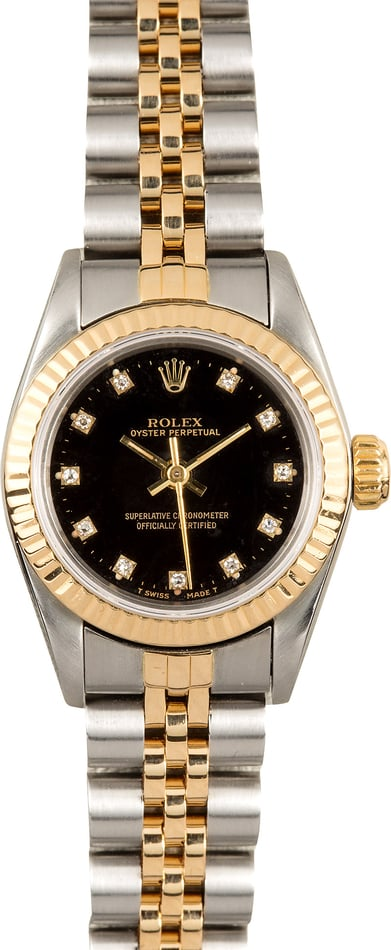 Rolex Ladies Oyster Perpetual 67193 Diamond