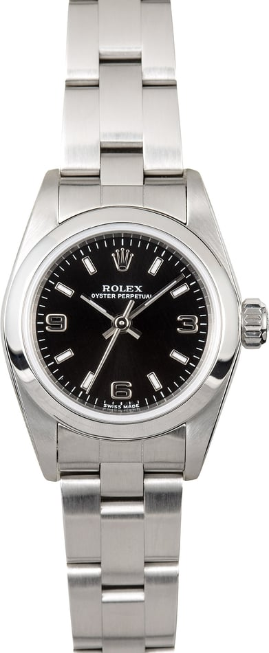 Rolex Ladies Oyster Perpetual 76080 Black