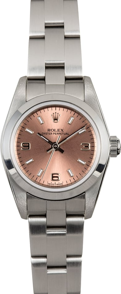 Rolex Ladies Oyster Perpetual 76080 Pink Dial