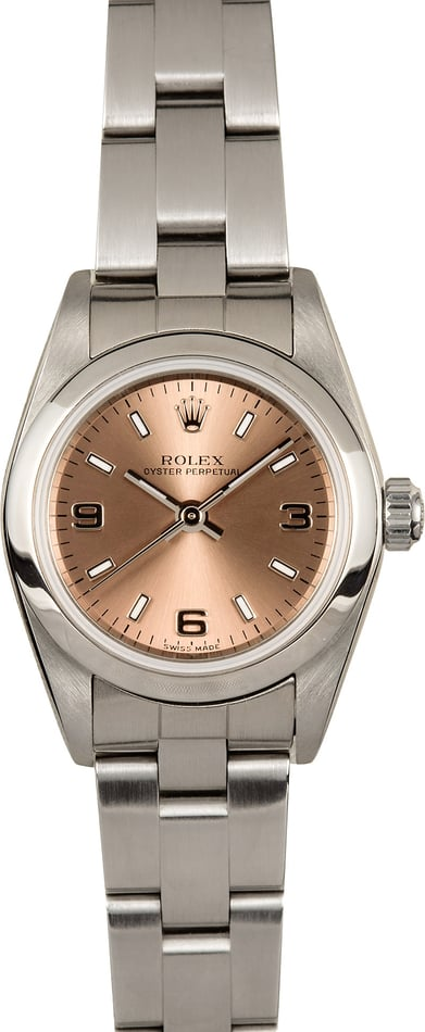 Rolex Ladies Oyster Perpetual 76080 Pink