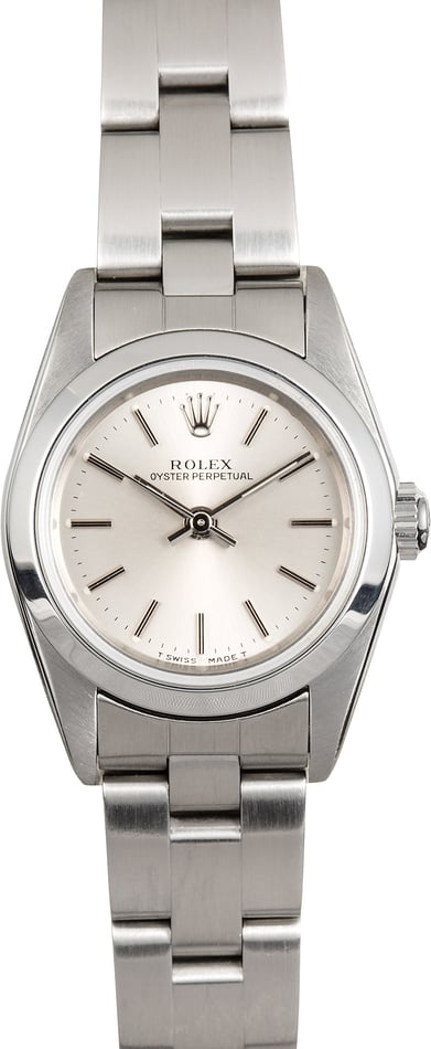 Rolex Ladies Oyster Perpetual 76080 Silver