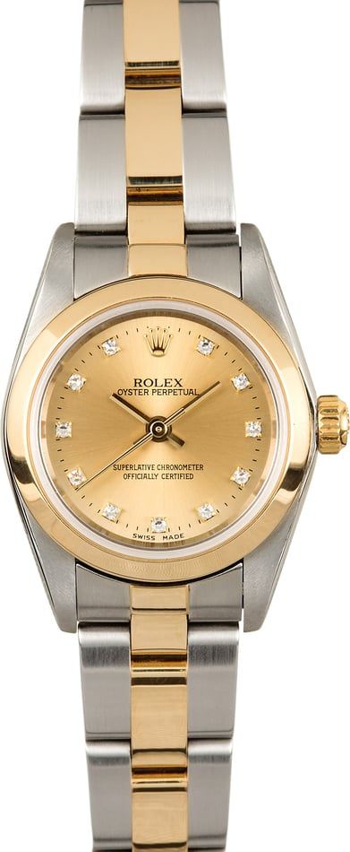 Rolex Ladies Oyster Perpetual 76183 Diamond